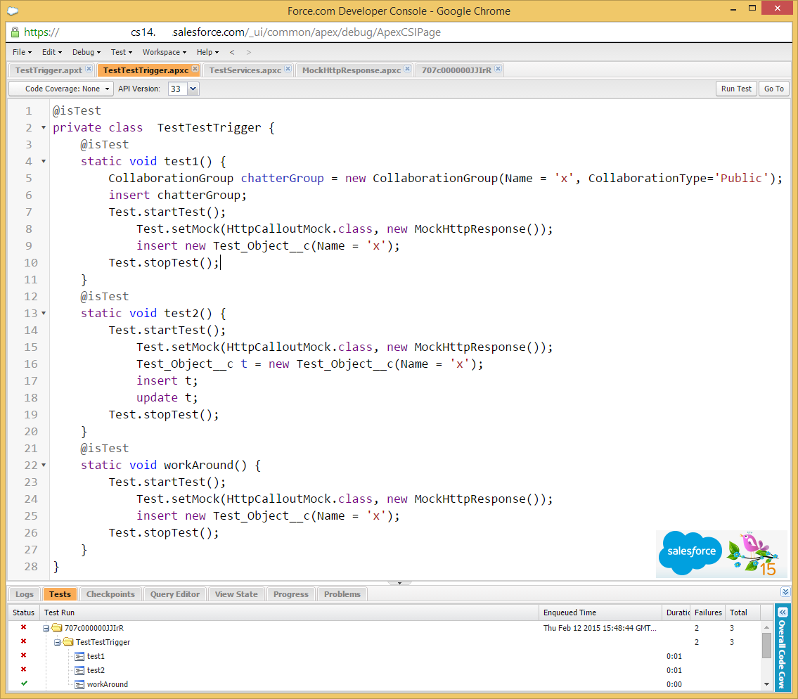 Bugs in Salesforce Spring 15 causing System CalloutException: You