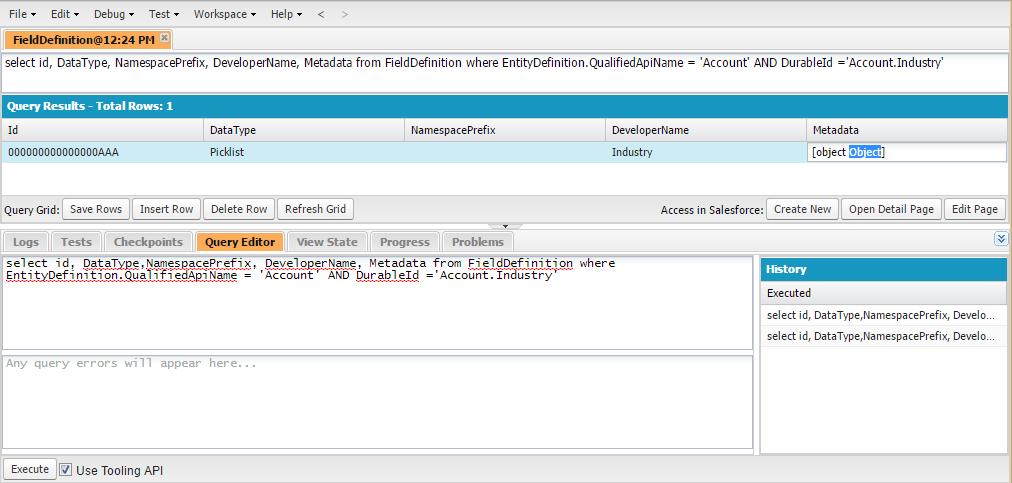 Salesforce: Querying Tooling API   patlatus